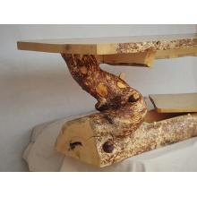 Textured Live Edge Log Coffee Table