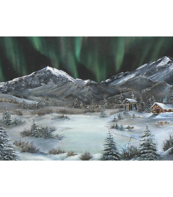 """Northern Lights Dreamscape"" Fine Art Card"