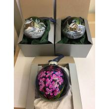 Northern Lights Yukon Winter Scenes - Handpainted Ornaments