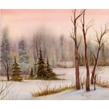 """Winter Walk"" Fine Art Card"