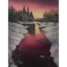 """Yukon Sunset Glow"" Fine Art Card"