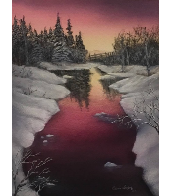 """Yukon Sunset Glow"" Fine Art Card"