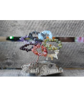 Chakra flower tree of life sculpture