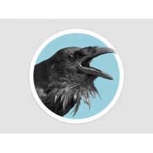 Button Style Raven Sticker