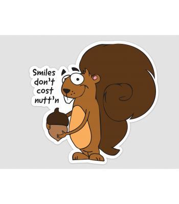 The Nutty Squirrel Sticker
